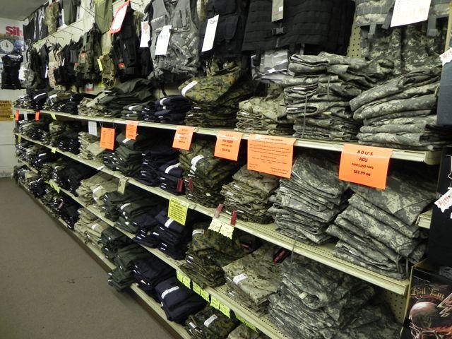 Marines clothing store